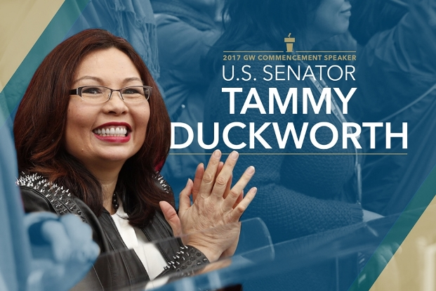 Senator Tammy Duckworth (ESIA MA '92) to deliver GW commencement address in May