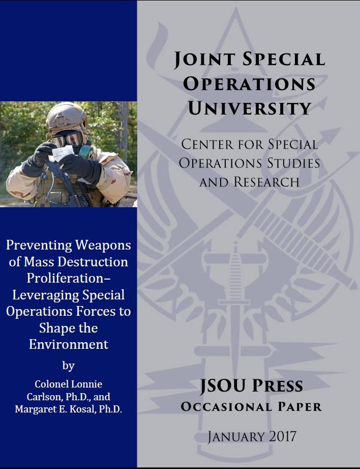 GT Army War College Alum and Nunn School Prof Brief on Preventing WMD Proliferation
