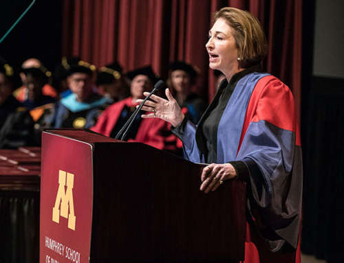 Innovation, Engagement are Keys to Future Success, Anne-Marie Slaughter Tells Humphrey School Graduates