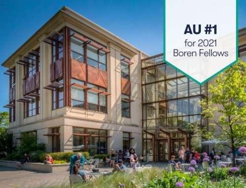 American University #1 in Boren Fellows; SIS Recognizes 11 Boren Award Winners